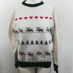 Vintage Ugly Christmas Sweater Size L Mary Knits H